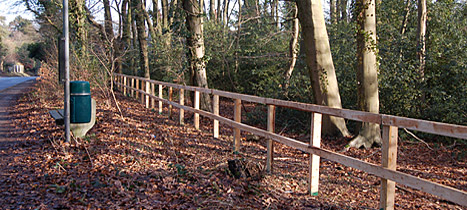 A section of the completed fence