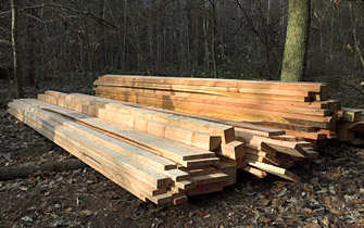 Building up stocks of sawn larch